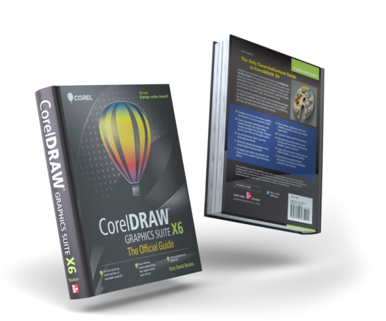 Illustration of CorelDraw X6 The Official Guide front and back covers.